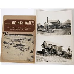 Photo's Whitestar Creamery and Book 1955 Flood Calif.  (120342)
