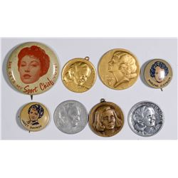 Hollywood Heart Throbs Pinbacks and Medals  (124256)