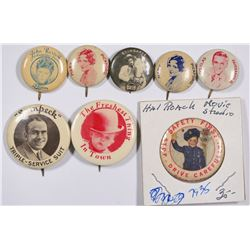Hollywood Pinbacks (8)  (124259)