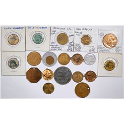 Hollywood Star Tokens (19)  (124251)