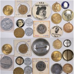 Hollywood Stars Medals and Pinbacks (15)  (124254)