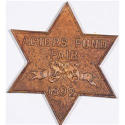 Actors Fund Fair Badge  (124255)