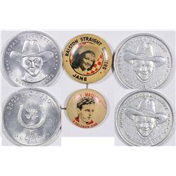 Movie Cowboy Pinbacks and Medals  (124261)