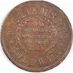 Wet Gold Mermaid Medal  (124272)