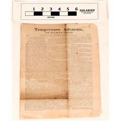 Hawaiian Temperance Paper From 1843/Colonization of Hong Kong  (124453)