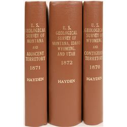 Geographical Surveys of The Rocky Mtn Region, by F.V.Hayden (3 Books)  (120623)