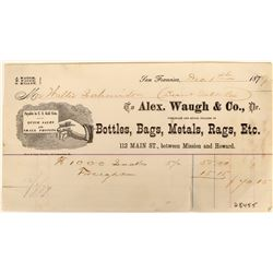Alex. Waugh Billhead (Bottle Related)  (123146)