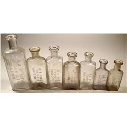 Roedel, Cheyenne Embossed Drug Bottle Collection (7)  (124835)