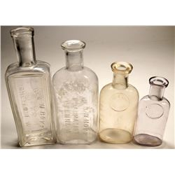 Wyoming Territory Drug Bottles, Hoyt, 3 Different  (124834)