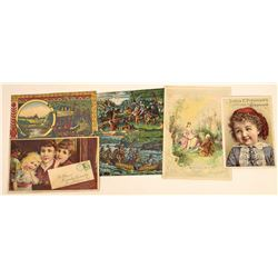 Famous Embossed Bottle Product Trade Cards  (124127)