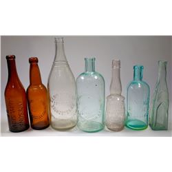 Western Antique Bottle Group (7)  (125213)