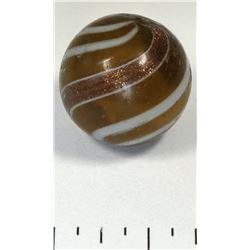 Banded lutz, opaque base glass  (125370)
