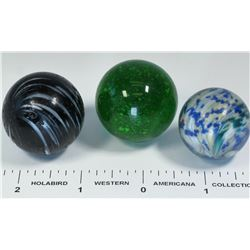 Banded opaque, End of Day, Mica Marbles - 3  (125397)
