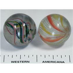 Divided core and Latticino core marbles  (125056)