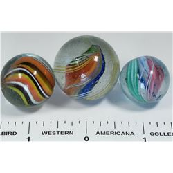 Divided core marbles (3)  (125055)