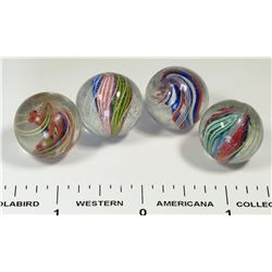Divided core marbles (4)  (125366)