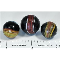 Indian Swirl Marbles - 3  (125415)