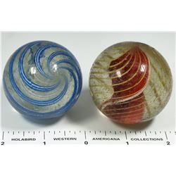 Latticino Core, Ribbon Core Marbles. Large - 2  (125412)