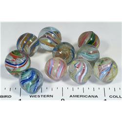 Peewee Swirl Marbles - 10  (125058)