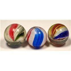 Solid core marbles (2)  and Peppermint Marble (1)   (125423)