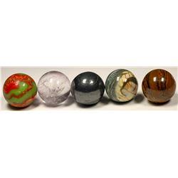 Stone Marbles (spheres) (5)  (125425)