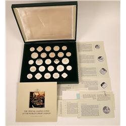 Official Gaming Coins of the World's Great Casinos (25 Coins)  (124010)