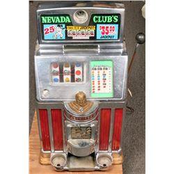 Nevada Club 25 Cent Classic Indian Head Jennings Slot Machine  (125246)