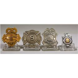 California Fire Department Badges (Lot of 4)  (125304)