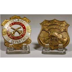 Badges from the Chicago Fire Deparment (2)  (125313)