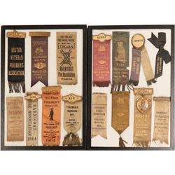 Barnicoat Fire Assn. of Boston Ribbon Collection (15)  (125317)