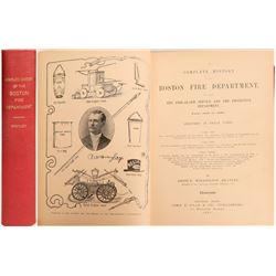 Complete History of the Boston Fire Department (Book)  (125658)
