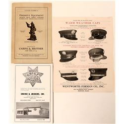 Fire Badge & Equipment Catalogs (2)  (125553)