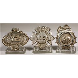 Fire Department City and/or Town Fire Dept. Badges from California   (125315)
