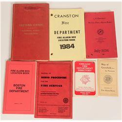 Fire Department Fire Alarm Box Locations (7 Books)  (125653)