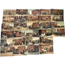 Fire Department Postcards, Providence R.I. (28)  (125647)