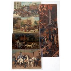 Fire Dept. Post Card Series P-1400 (Set of 6)  (125642)