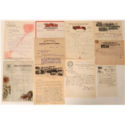 Fire Engine Manufacturer's Billheads & Letterheads (9)  (125632)
