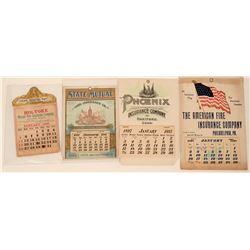 Fire Insurance Co. Advertising Calendars (4)  (125565)