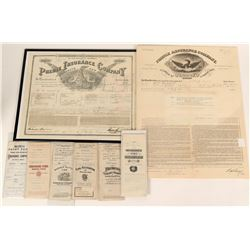 Fire Insurance Policies (8 Pieces)  (124810)