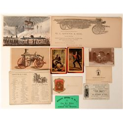 Fire Memorabilia, Assorted Ephemera  (125554)