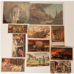 Fire Related Trade Cards (12)  (125552)