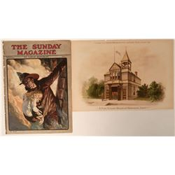 Fire Themed Lithographs (2)  (125559)
