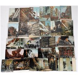 Firemen at Work, Postcards (25)  (125641)