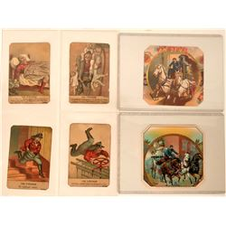 Fire-Related Cigar Labels & Comical Trade Cards  (125634)