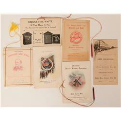 Invitations to Firemen's Ball (6)  (125551)
