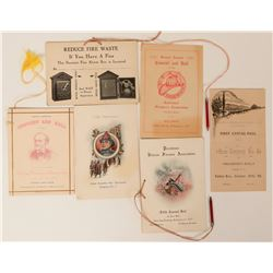 Invitations to Firemen's Ball (6)  (125551)