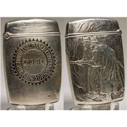 Pewter Match Safe (Embossed)  (125312)