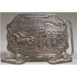Sterling Silver Fireman's Belt Plate  (125310)
