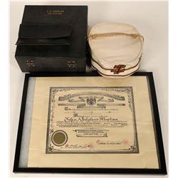Scottish Rite 33rd Degree Freemasonry Hat and Patent   (125086)