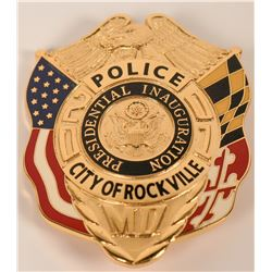 City of Rockville Inauguration Badge  (121928)